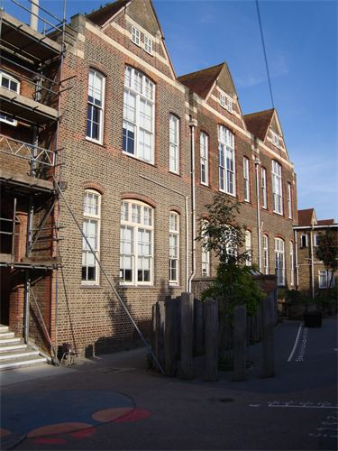 Repointing brickwork of school in Hove, Brighton, Sussex