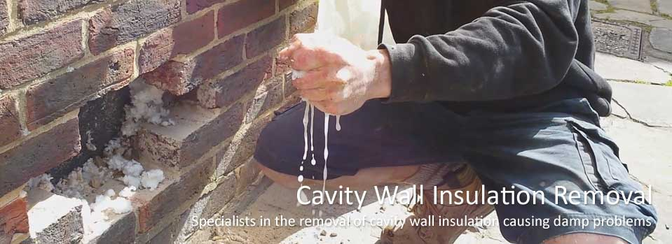 Removal of cavity wall insulation causing damp problems