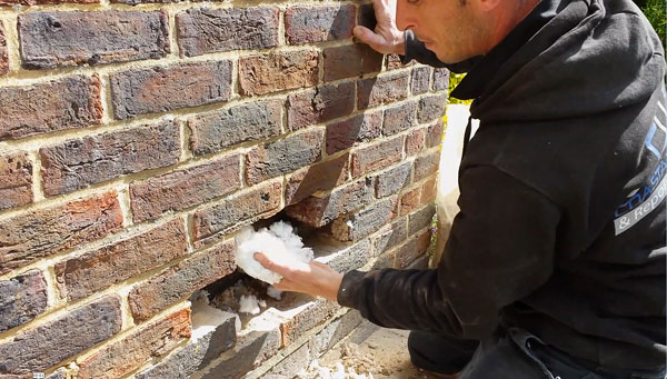 Cavity Wall Insulation Removal in West Sussex